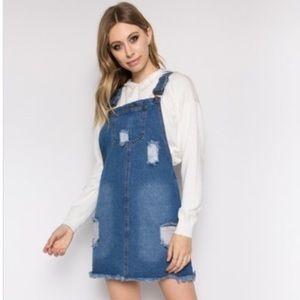 Dresses & Skirts - Denim overall dress